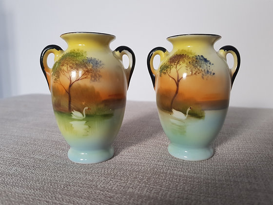 Pair of Noritake Miniature Vases