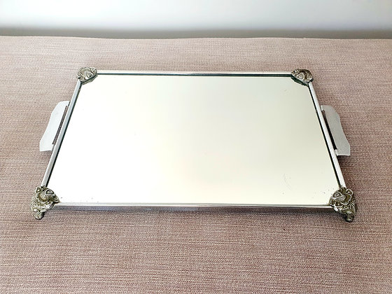 Chrome Mirrored Tray