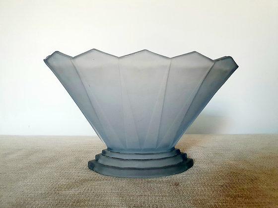 Art Deco Vase Bagley Wyndham Blue Glass 1930s for sale UK
