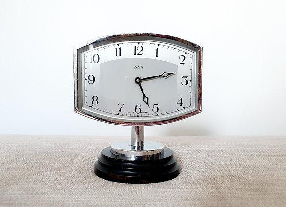 Chrome Desk Clock on Stand