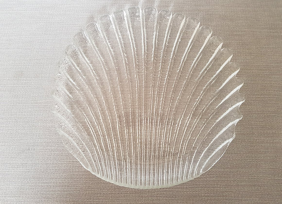 Clear Glass Shell Plate
