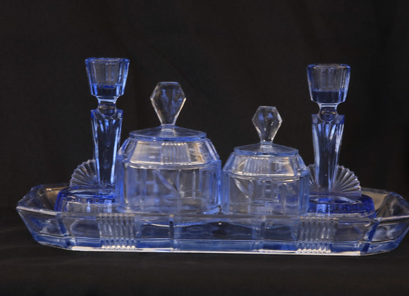 Blue Vanity / Dressing Table Set
