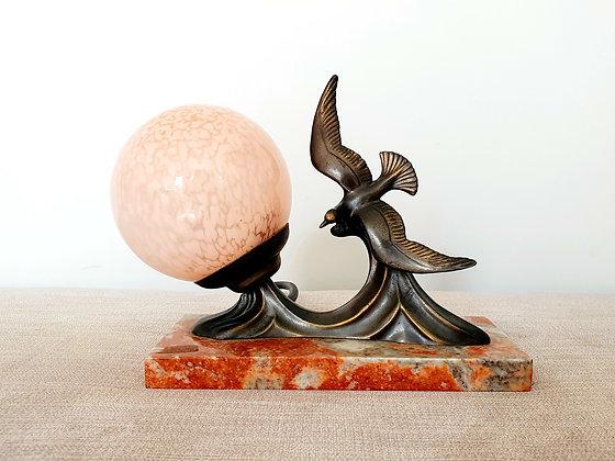 Seagull Marble Lamp