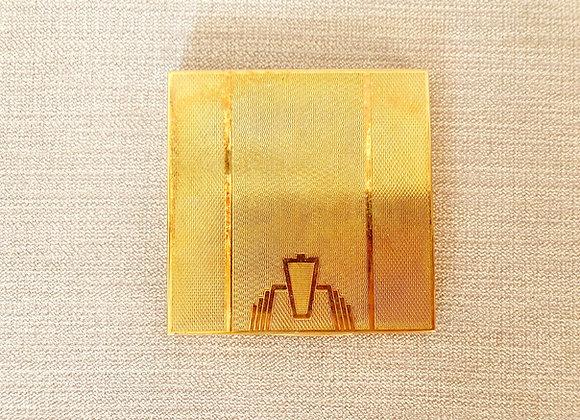 Art Deco Zenette Compact Mirror
