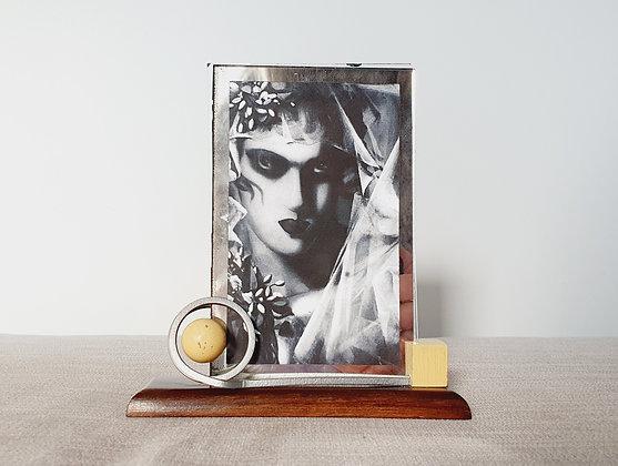 Cream Wood & Metal Photo Frame