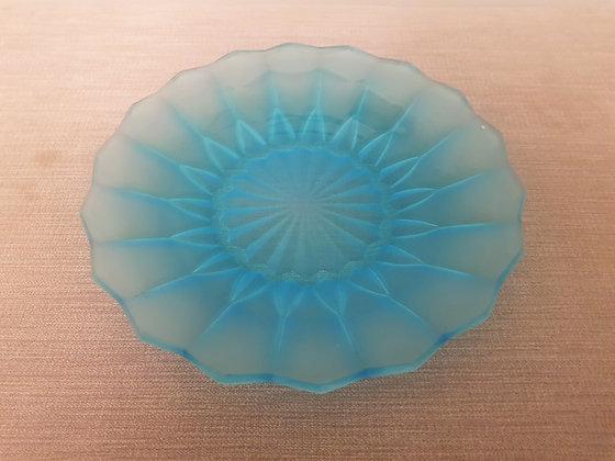 Davidson Blue Glass Plate