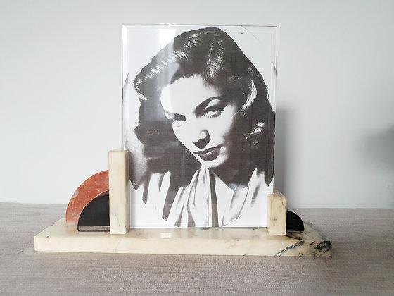 Cream, Red & Black Marble Photo Frame