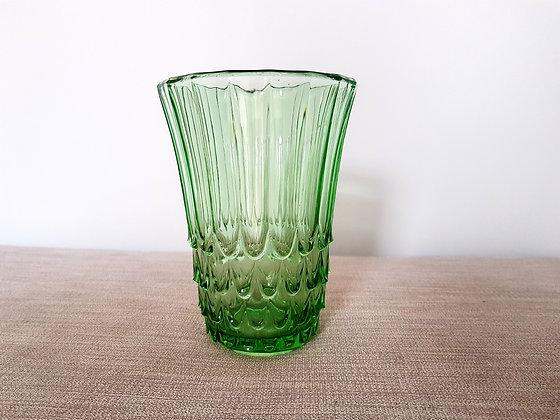 Dark Green Glass Celery Vase