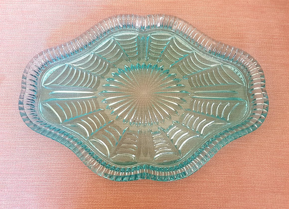 Aqua Glass Tray