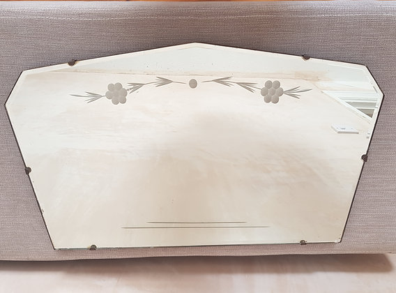 Bevelled Edge Etched Floral Mirror