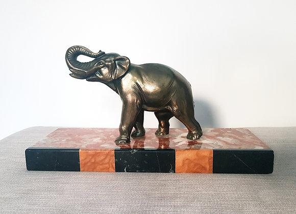 Spelter Elephant Statue