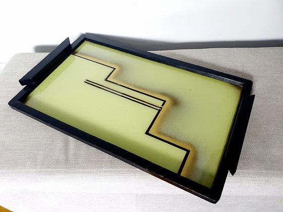 Large Bauhaus Geometric Cocktail Tray