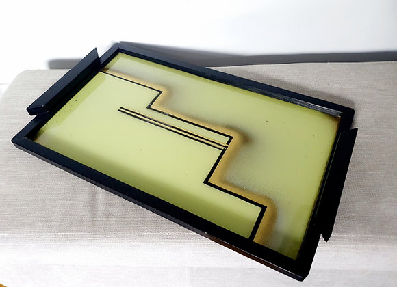 Large Bauhaus Geometric Cocktail Tray