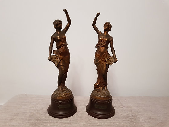 Pair of Spelter Figures A/F