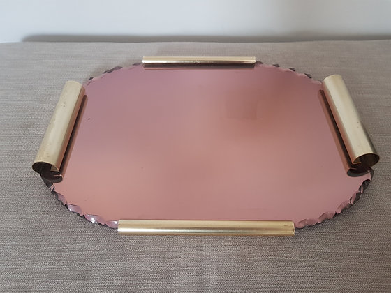 Rose Glass Tray
