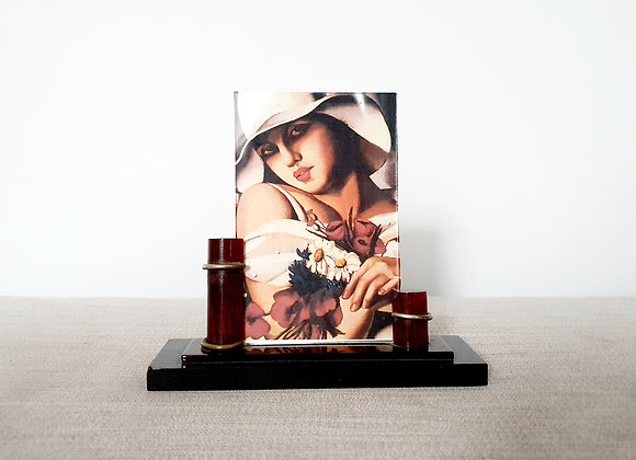 Red Lucite Photo Frame