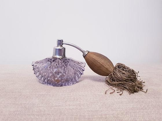 Amethyst Cut Glass Perfume Bottle