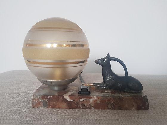 Spelter Gazelle Lamp