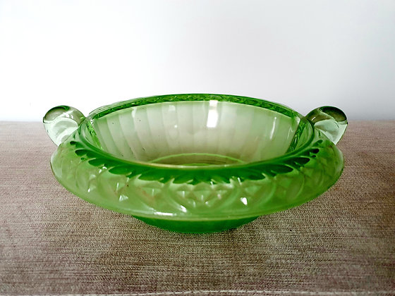 Art Deco Uranium Glass STS Abel Bowl Green 1930s for sale UK