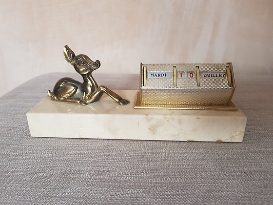 French Perpetual Calendar with Deer