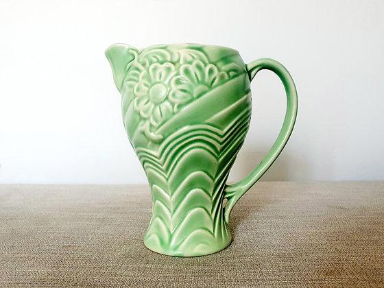 Wade Green Floral Jug
