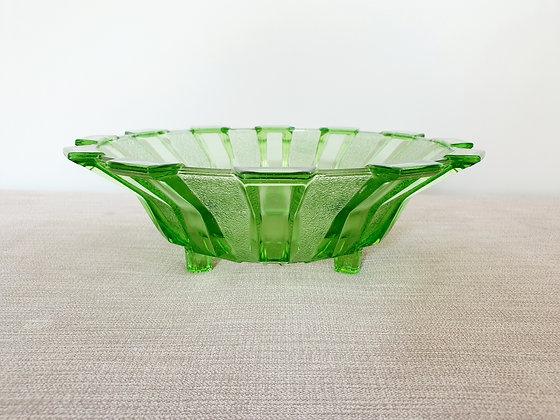 Stölzle Green Glass Bowl
