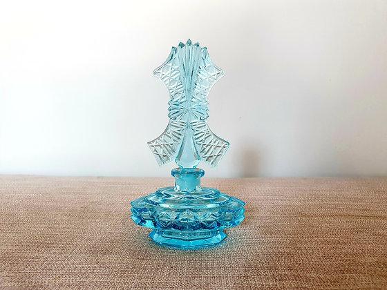 Czech Blue Glass Perfume Bottle