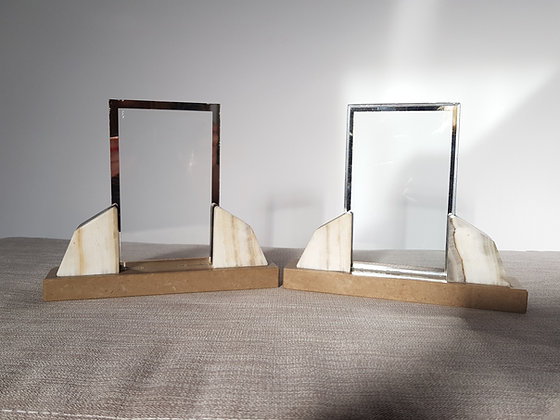 Pair of Marble Photo Frames