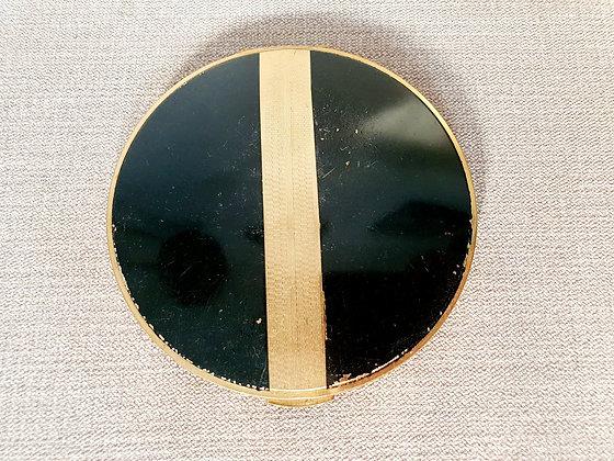 Stratton Black & Gold Compact Mirror