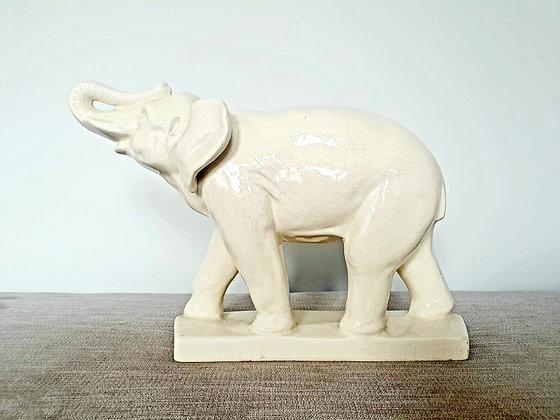 French Crackle Glaze Elephant