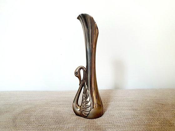 Chrome Swan Vase