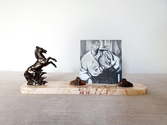 Art Deco Horse Marble Photo Frame