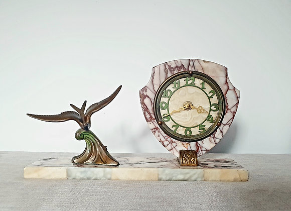 Swallow Marble Clock