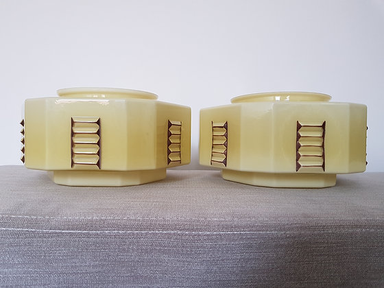 Pair of 1920s Ceiling Light Shades