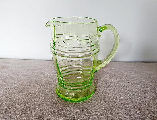 Uranium Glass Lemonade Jug