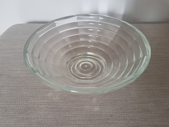 Clear Glass Ribbed Dish