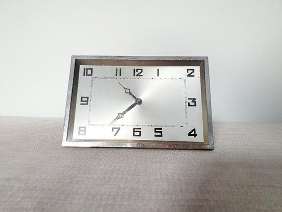 Rectangular Chrome Clock