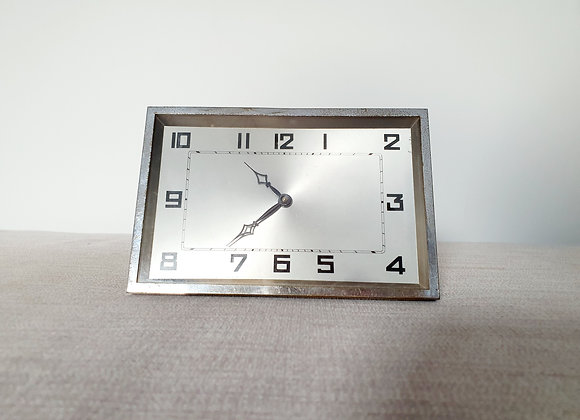 Rectangular Chrome Clock