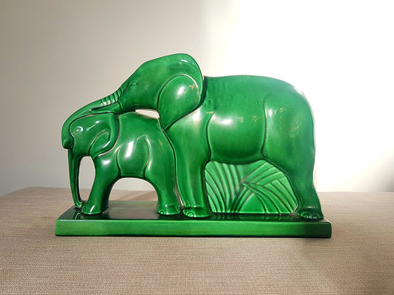 Charles Lemanceau Green Elephants