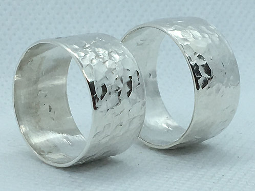 Sterling Hammered Rings