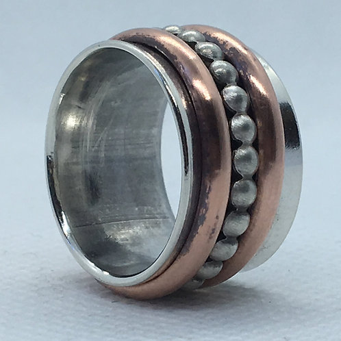 3 Band Sterling Silver Spinning Rings