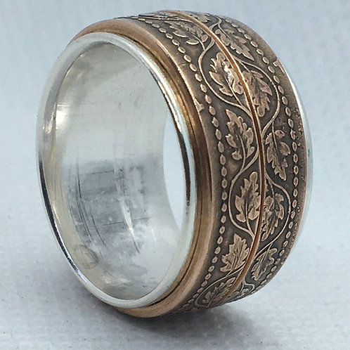 Antique Bronze over Sterling Band