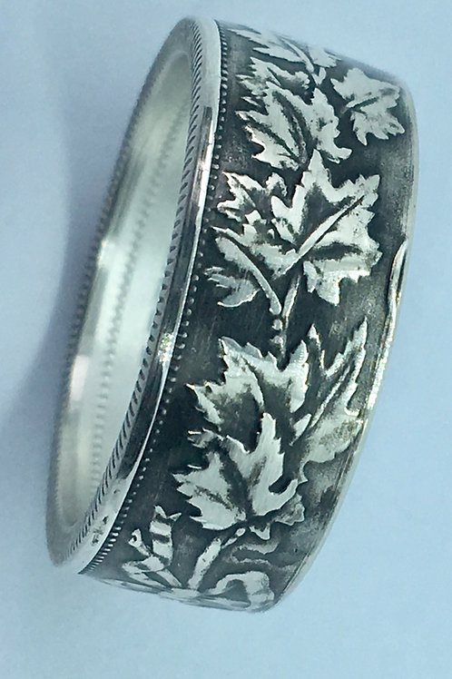 1907-1917 Sterling Coin Ring