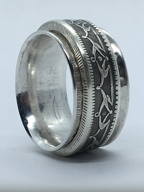 1880s Newfoundland Sterling Spinning Ring
