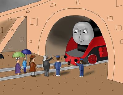 Once, an engine attached to a train was triggered by some drops of rain...