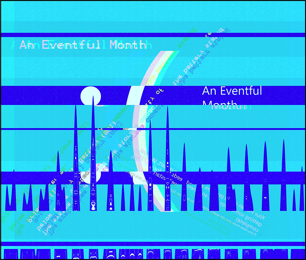 A glitchy Windows BSOD representing the issues I had with my laptop and why I couldn't update throughout the month of September 2020.