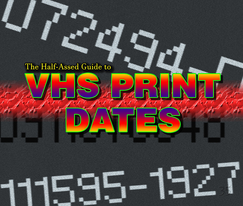 This image features make VHS print date styles and other info that has no answers, like numbers embedded into the cassettes.