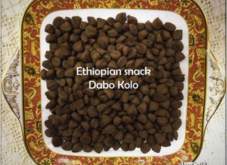 Ethiopian snack: Dabo Kolo made from Teff