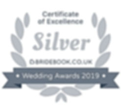 Bridebook Wedding Awards 2019 Silver Badge Of Ecellence www.russellprodj.com