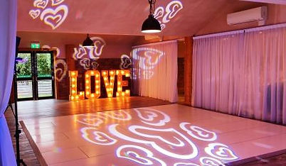 Russell Pro DJ Hearts Gobo Projection at The Barn at Willerby.jpg